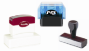 Stamps      Carcone offers a wide variety of hand held rubber stamps with changeable date bands; any size, shape, color or graphic layout, from the simple to the complex. We provide only professional quality, high durability dater equipment, customized to